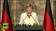 Turkey: Germany is on Turkish side in refugee crisis - Merkel