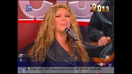 Indira Radic - Samo nocas da si tu - (LIVE) - Promocija - (TV Dm Sat 2012)