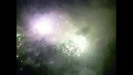 Фойерверките за 2010 година в гр. Мездра