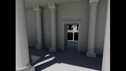 Autocad - 3d амфитеатър - виртуална разходка