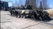 Ето как в Русия бутат танковете си