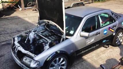 Mercedes C600 V12 в действие - Gymkhana