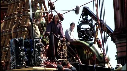 The Chronicles of Narnia - Voyage of the Dawn Treader Set - Ben Barnes and Skander Keynes