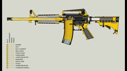 Как стреля m16