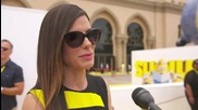 Sandra Bullock Is A Villain On The Yellow Carpet Of 'Minions'