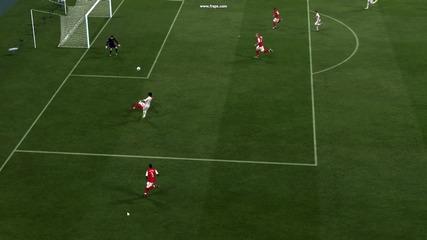 Fifa 12!страхотен прехвърлящ удар на Неймар! Реал Мадрид!