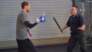 Самозащита от нож с тояга 2 ескрима