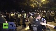 UK: Halloween ravers clash with riot police after illegal party shut down