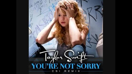 Taylor Swift Youre Not Sorry Csi Remix++episode Link