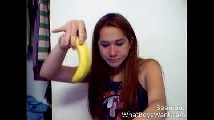 Момиче Лапа Банан