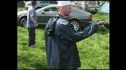Руски тарикат си разби Бентлито на автосъбор.смях!