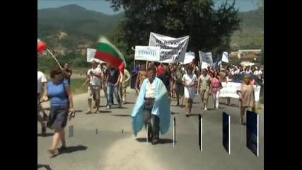 След протестите - контрапротест на пътя за Гърция