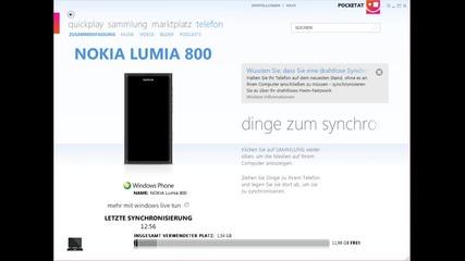 Nokia Lumia - Синхронизиране на музика от и на Pc чрез Zune