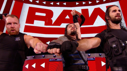 The Shield celebrate after Raw: WWE.com Exclusive, Aug. 20, 2018
