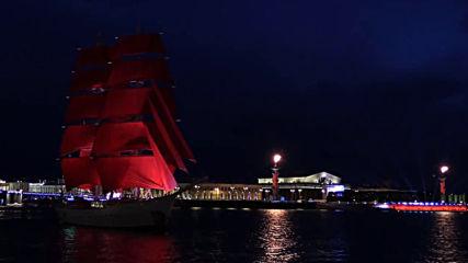 Russia: 1.4 million people attend 'Scarlet Sails' celebration in Saint Petersburg