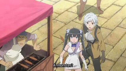 Dungeon ni Deai wo Motomeru no wa Machigatteiru Darou ka Episode 2 eng subs