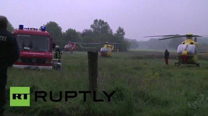 Germany: Train-tractor collision kills 2, injures 20