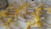 Сватбени подаръчета в златно с тагче- Charmybride.com