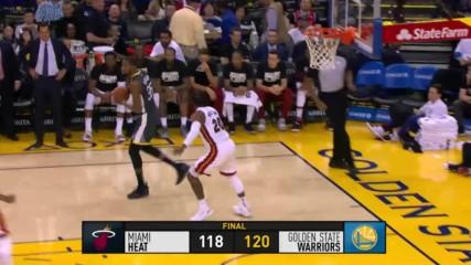 Репортаж от НБА: Голдън Стейт обърна Маями в самия край