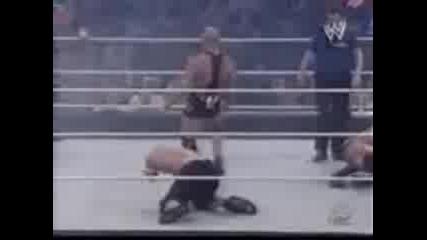 Wwe Handicap Match Triple H & John Cena Vs Kurt Angle, Rey Myst