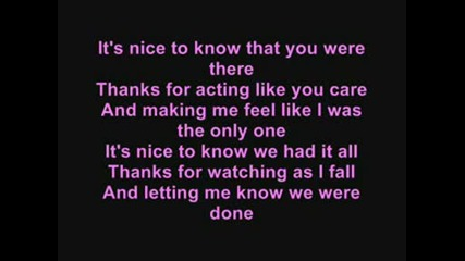 Avril Lavigne - My happy Ending (with lyrics)