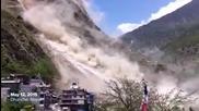 Кадри от днешното земетресение в Непал, 12.05.2015