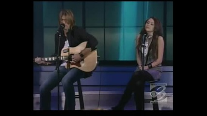 Miley and Billy Ray Cyrus - Redy Set,  Dont Go live