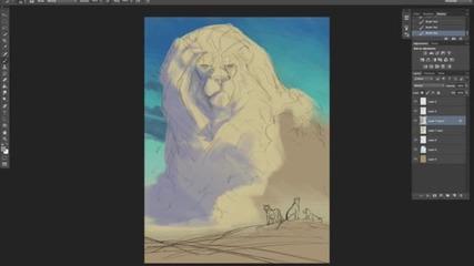 """Аниматор на """"Цар Лъв"""" нарисува убития Сесил"""