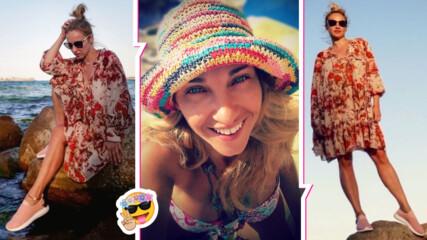 Алекс Раева в чудесна форма на плажа и с важно послание