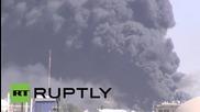 Въздушни удари в Сана часове преди започване на примирието