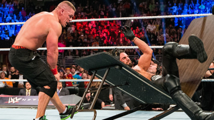 John Cena vs. Seth Rollins – Tables Match: WWE TLC 2014 (Full Match)