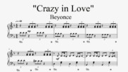 """Beyonce - Crazy in Love"" - Piano sheet music (by Tatiana Hyusein)"