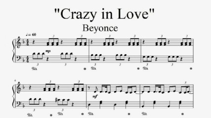 """Beyonce - Crazy in Love"" - Piano sheet music (by Tatiana Hyusein)"