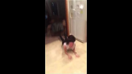 White Girl Faceplants Into Floor - Funny Girl Fails - Kanye West Yeezus Im In It Girl Faceplant