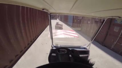 Кен Блок пародия/ken Box's Crazy Cart Gymkhana Two