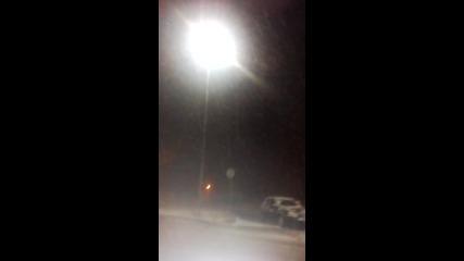 Страхотен Снеговалеж Над Шумен 16.02.16