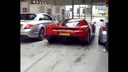 Mercedes Cl65 Amg + Ferrari Enzo + Bmw M5 мерят сили