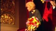 Анна Нетребко на честването на 75-годишнината на Елена Образцова в Болшой театър - 28.10.2014 г.