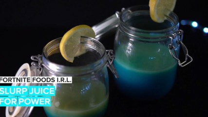 Fortnite Foods I.R.L.: Power shield slurp juice
