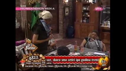 Katarina Grujic - Imitira Borisa 62. dan - Farma - (RTV Pink 2013)