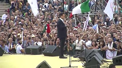 Italy: PM Conte among hundreds at Five Star Movement rally in Rome