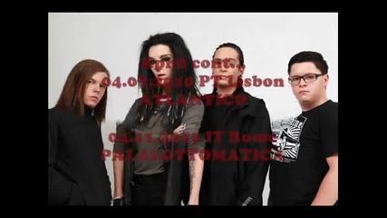 Tokio Hotel - Humanoid Tour Dates 2010