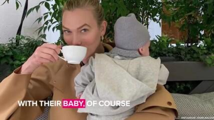 Карли Клос празнува първи рожден ден като майка