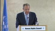 Switzerland: Lavrov condemns rise of neo-Nazism in Ukraine