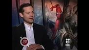 Звездата Тоби Магуайър дава интервю за филма си Спайдър - Мен 3 (2007)