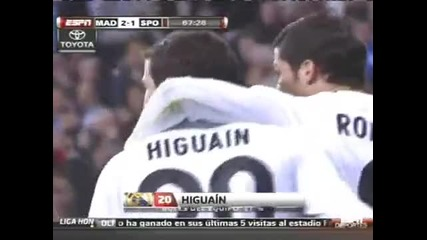 20.03.10 Real Madrid 3 : 1s.gijon - Реал Мадрид 3:1 С.хихон Всички голове