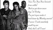 Rihanna - Four Five Seconds Feat. Kanye West, Paul Maccartney (lyrics Video)