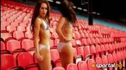 Секси изпълнение на мажоретките на Кристъл Палас