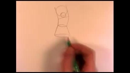 Рисуване на тялото на Хоумър Симпсън
