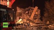 Русия: Взрив на газова бутилка разруши жилищен вход, има жертви
